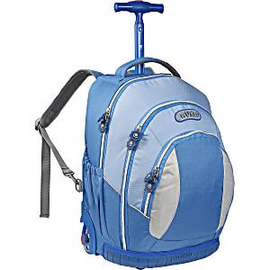 Школьный рюкзак на колесах – ранец JWORLD Sweet Blue – арт. KRB001011 (для 3-5 класса, 21 литр)