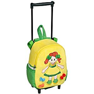 Рюкзак детский на колесах для малышей Heunec Кукла Лотте