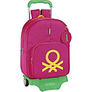 Школьный ранец-рюкзак Safta Benetton UCB ST35400 (1-3 класс, 18 литр) с тележкой на колесах