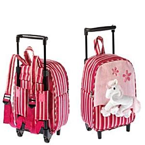 Рюкзак детский на колесах для малышей Heunec Розовый Пони