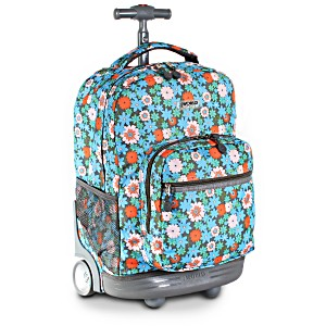 Универсальный школьный рюкзак на колесах JWORLD Sunrise арт. RBS18 Blossom