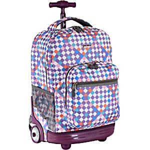 Универсальный школьный рюкзак на колесах JWORLD Sunrise арт. RBS18 Шах и Мат