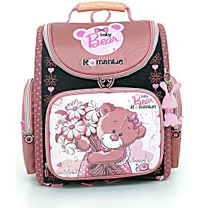Школьный рюкзак – ранец HummingBird Bear Romantic K42 с мешком для обуви
