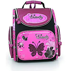 Школьный рюкзак – ранец HummingBird Butterfly Vintage – арт. K44 (с мешком для обуви)