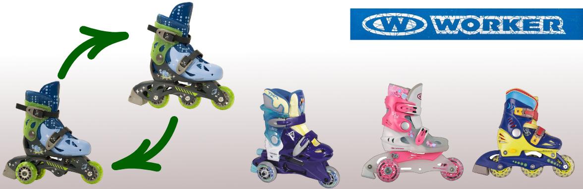 Детские роликовые коньки WORKER TriGo Skate