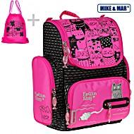 Школьный рюкзак Mike&Mar Майк Мар Котик арт. 1074-ММ-508 + мешок + пенал