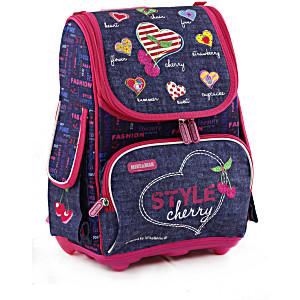 Школьный рюкзак облегченный Mike&Mar Майк Мар Вишня арт. 1075-MM-50