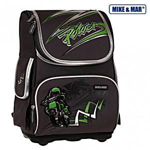 Школьный рюкзак облегченный Mike&Mar Майк Мар Мото арт. 1075-MM-36 + пенал