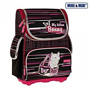 Школьный рюкзак облегченный Mike&Mar Майк Мар Киска BONNY арт. 1075-MM-47 + мешок для обуви