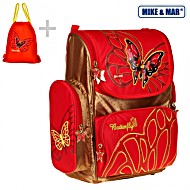 Школьный рюкзак Mike&Mar Майк Мар Бабочка 1074-ММ-506 + мешок для обуви + пенал