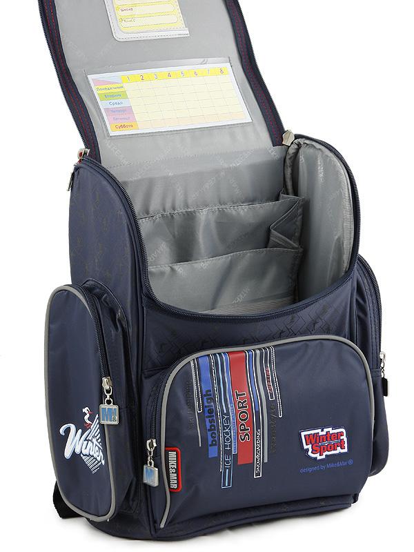 Школьный рюкзак Mike&Mar Майк Мар Собачка синий 1074-ММ-01 + мешок для обуви, - фото 3