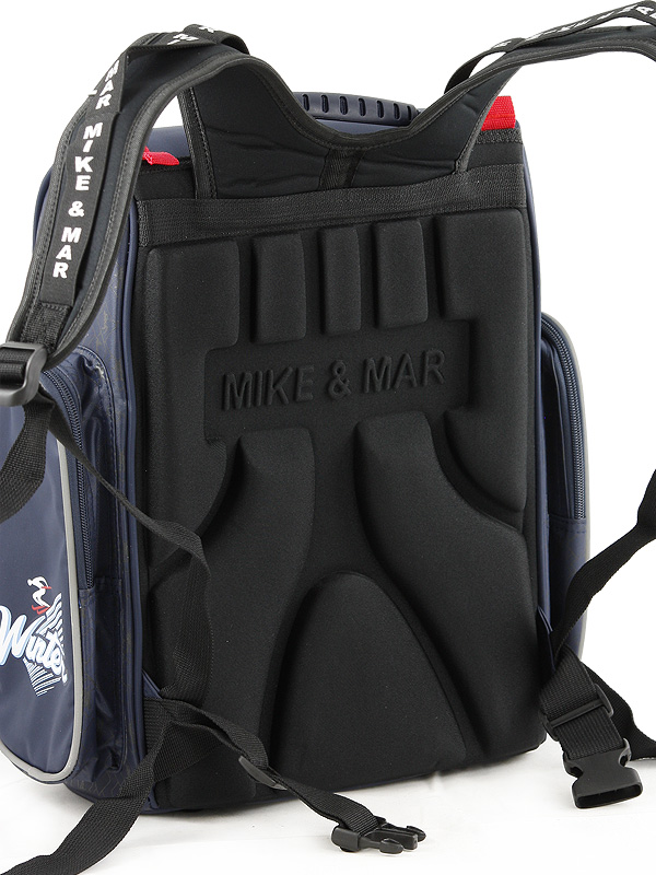 Школьный рюкзак Mike&Mar Майк Мар Собачка синий 1074-ММ-01 + мешок для обуви, - фото 7