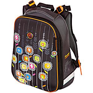 Школьный рюкзак – ранец HummingBird Teens Цветы на Черном – арт. T46