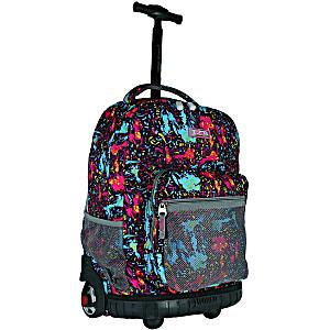 Универсальный школьный рюкзак на колесах JWORLD Sunrise арт. RBS18 Розовый Тигр