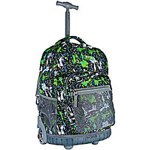 Универсальный школьный рюкзак на колесах JWORLD Sunrise арт. RBS18 Зеленый Тигр