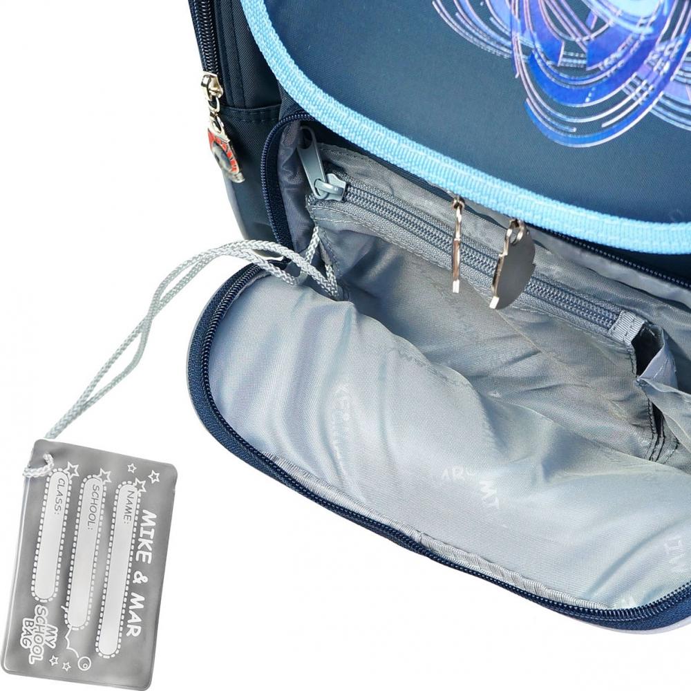 Школьный рюкзак Mike&Mar Майк Мар Собачка синий 1074-ММ-01 + мешок для обуви, - фото 5