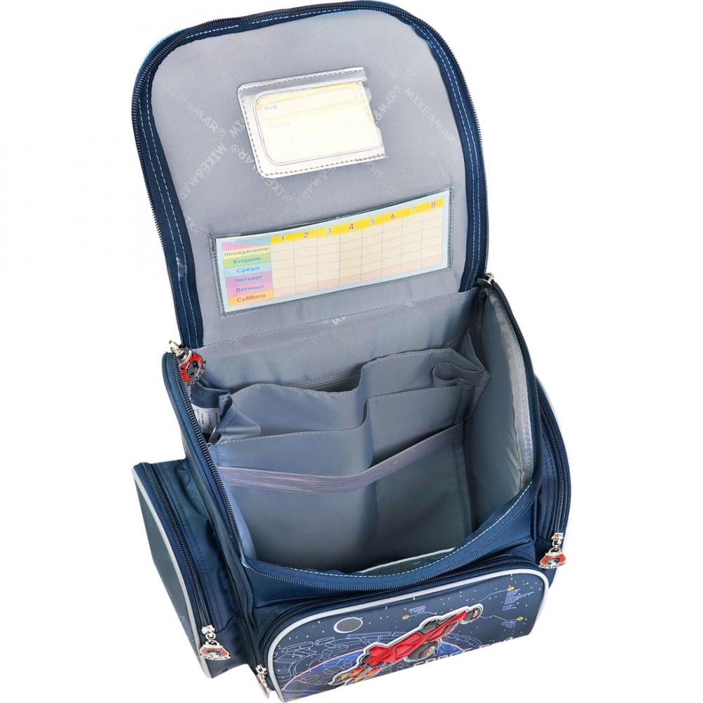 Школьный рюкзак Mike&Mar Майк Мар Собачка синий 1074-ММ-01 + мешок для обуви, - фото 4