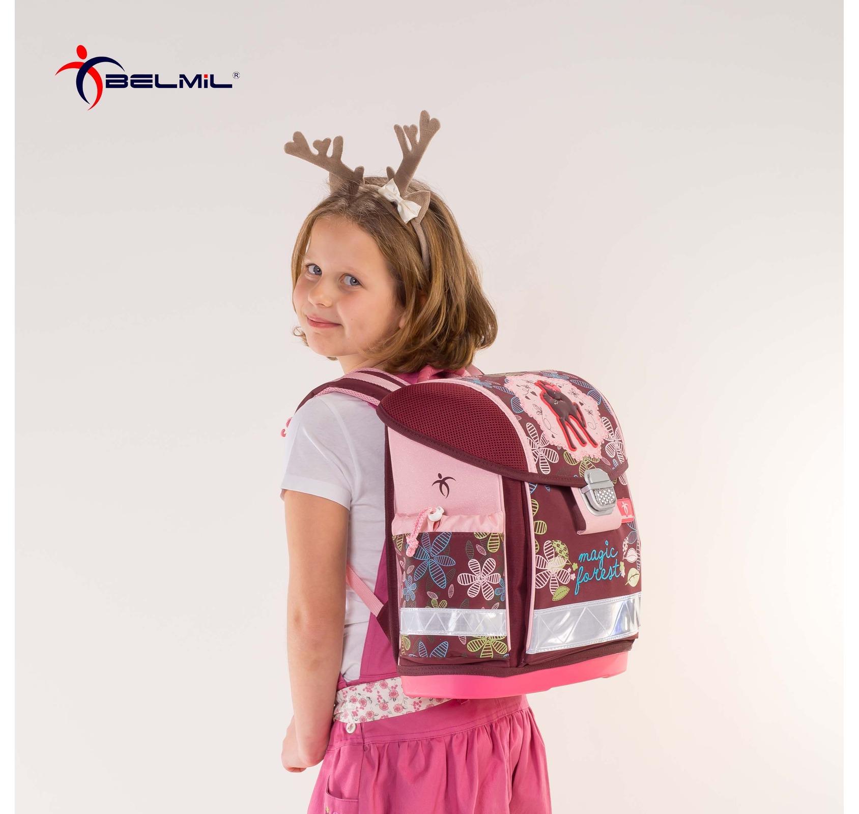 Школьный ранец Belmil 403 13 Magical - Фиолетовый единорог, - фото 9