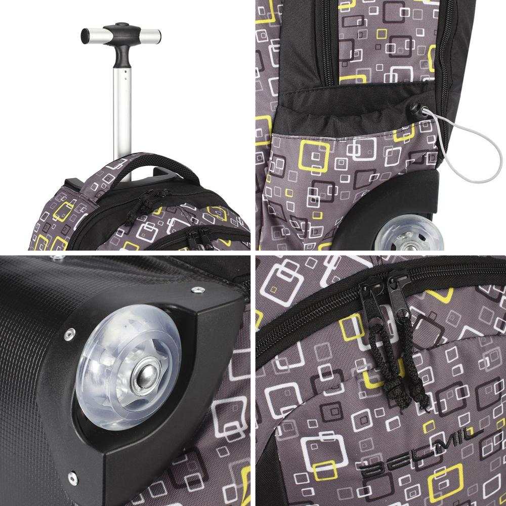 Рюкзак на колесиках с выдвижной с ручкой Belmil BLUE MAGIC 338-45/772, - фото 17