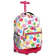 Универсальный школьный рюкзак на колесах JWORLD Sunrise арт. RBS18 Speckle