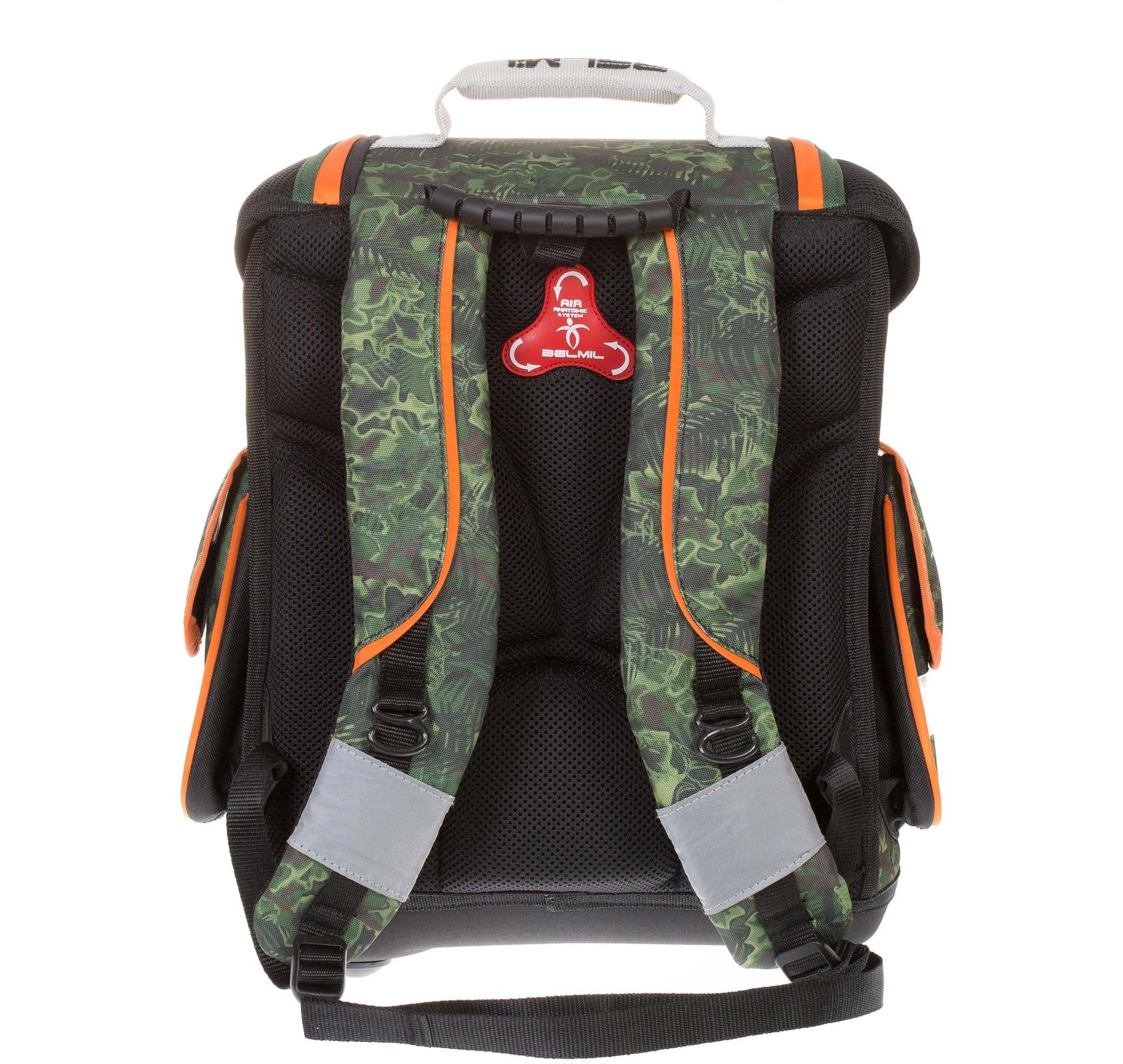 Ранец Belmil Sporty 404-5/442 DINOSAUR + мешок для обуви, - фото 4