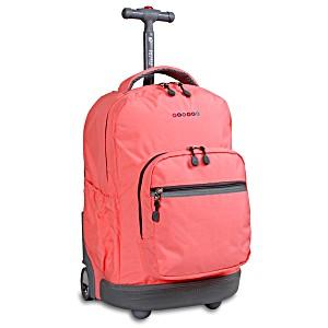Универсальный школьный рюкзак на колесах JWORLD Sunrise арт. RBS18 Персик