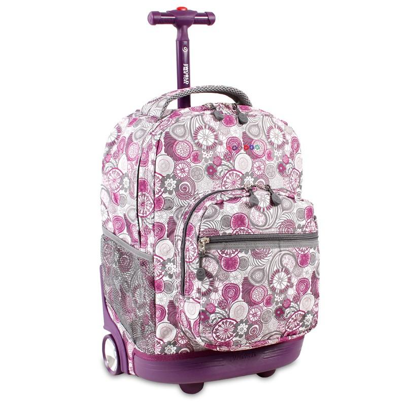 Универсальный школьный рюкзак на колесах jworld sunrise арт rbs18 каркасные рюкзаки для детей