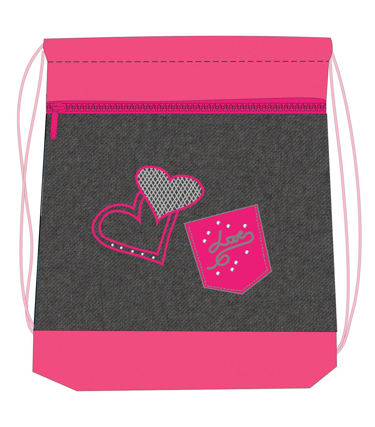 Ранец Belmil 405-35 Missy & Mister Jeans Love + мешок для обуви, - фото 4
