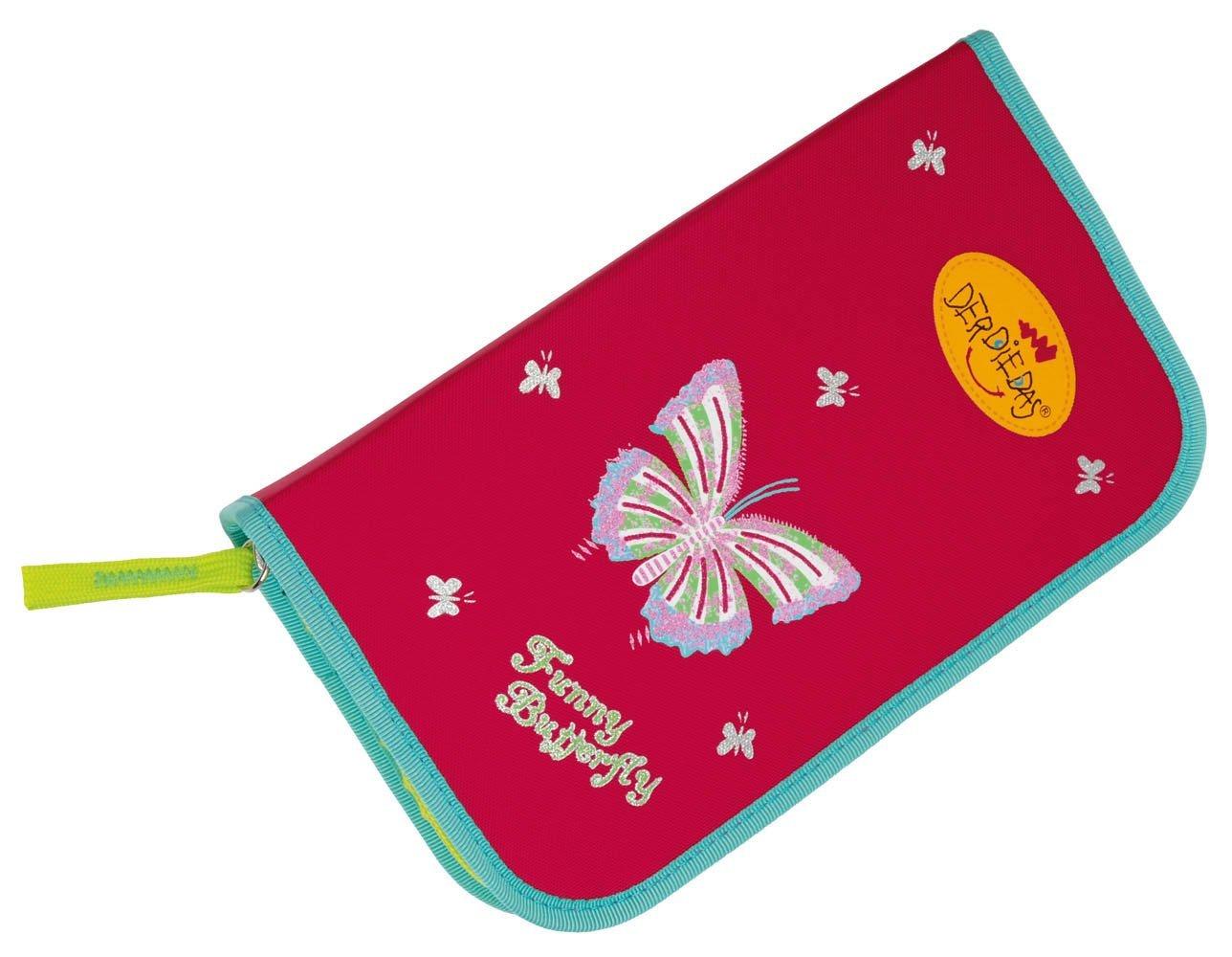 Школьный ранец DerDieDas ErgoFlex XL с наполнением Крылья Бабочки + нагрудный ремень, - фото 11