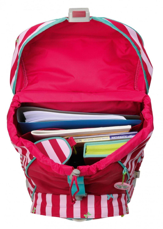 Школьный ранец DerDieDas ErgoFlex XL с наполнением Крылья Бабочки + нагрудный ремень, - фото 8
