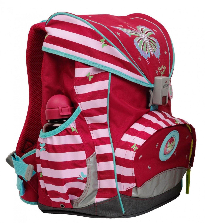 Школьный ранец DerDieDas ErgoFlex XL с наполнением Крылья Бабочки + нагрудный ремень, - фото 3