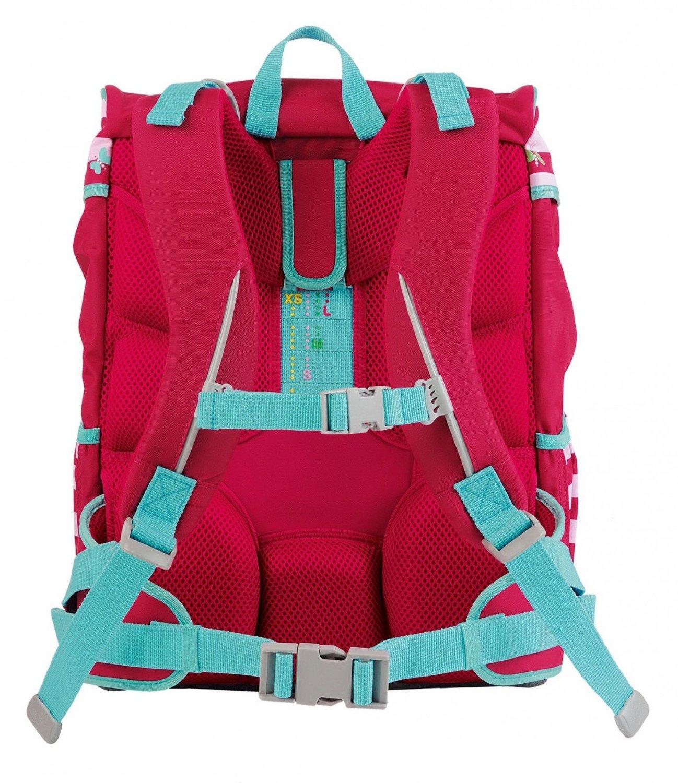 Школьный ранец DerDieDas ErgoFlex XL с наполнением Крылья Бабочки + нагрудный ремень, - фото 4