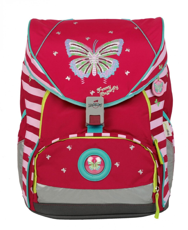 Школьный ранец DerDieDas ErgoFlex XL с наполнением Крылья Бабочки + нагрудный ремень, - фото 2