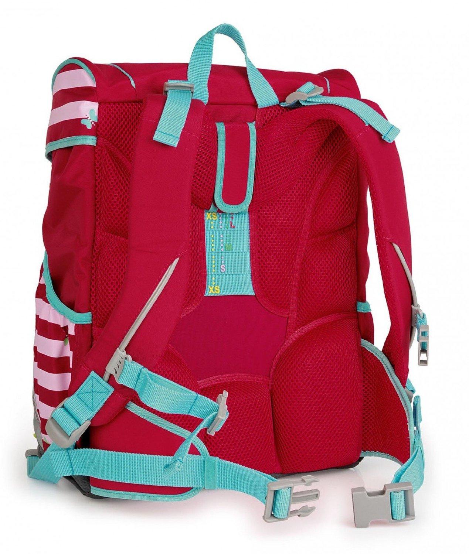 Школьный ранец DerDieDas ErgoFlex XL с наполнением Крылья Бабочки + нагрудный ремень, - фото 6