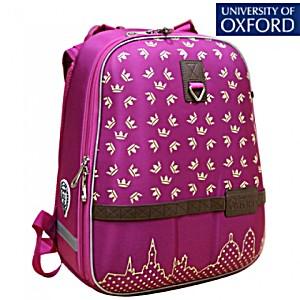 Школьный рюкзак OXFORD 1008-OX-78 Оксфорд Короны малин/желт + пенал