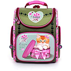 Школьный рюкзак – ранец HummingBird K97 Charming Kitty с мешком для обуви