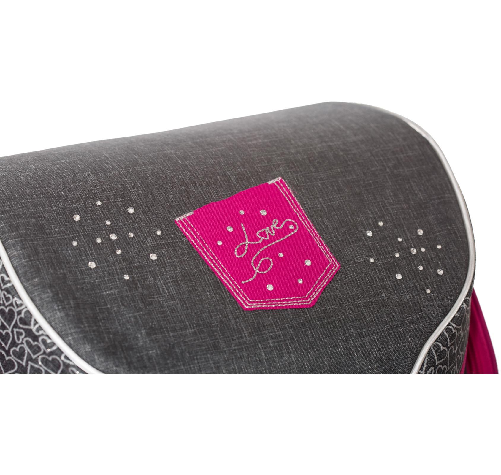 Ранец Belmil 405-35 Missy & Mister Jeans Love + мешок для обуви, - фото 3