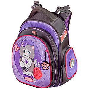 Рюкзаки для девочек с кошками Hummingbird TK25 Кошка с мешком для обуви + пенал