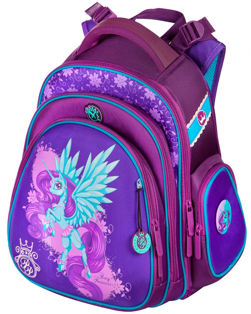 7d2aab15b271 Школьный ранец Hummingbird TK34 Единорог с мешком для обуви + пенал - рюкзак  для первоклассника фиолетовый
