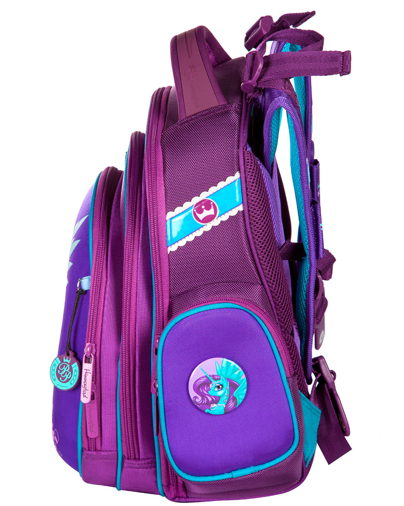 b7a50156d8c5 ... Школьный ранец Hummingbird TK34 Единорог с мешком для обуви + пенал -  рюкзак для первоклассника фиолетовый