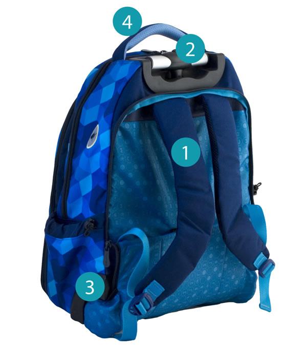 Рюкзак на колесиках с выдвижной с ручкой Belmil BLUE MAGIC 338-45/772, - фото 12