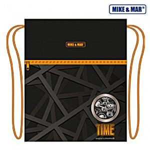 Мешок для обуви Mike&Mar Майк Мар Время черный