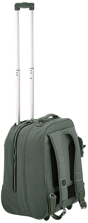 Рюкзак на колесах Kipling CLAS Soobin L оливковый, - фото 6