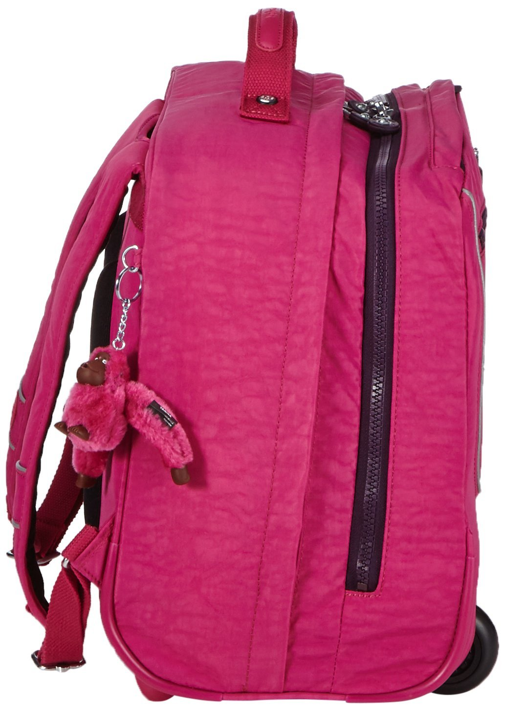 Рюкзак на колесах Kipling CLAS DALLIN цвет малиновый, - фото 3