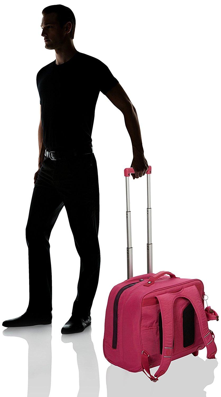 Рюкзак на колесах Kipling CLAS DALLIN цвет малиновый, - фото 6