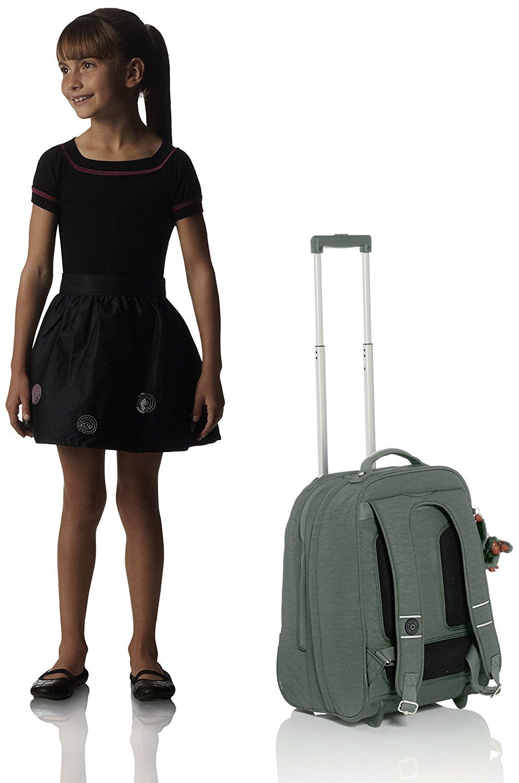 Рюкзак на колесах Kipling CLAS Soobin L оливковый, - фото 5