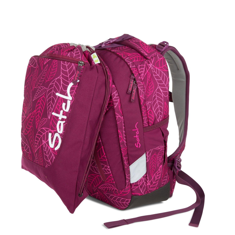 Рюкзак Ergobag Satch Sleek цвет Purple Leaves, - фото 7