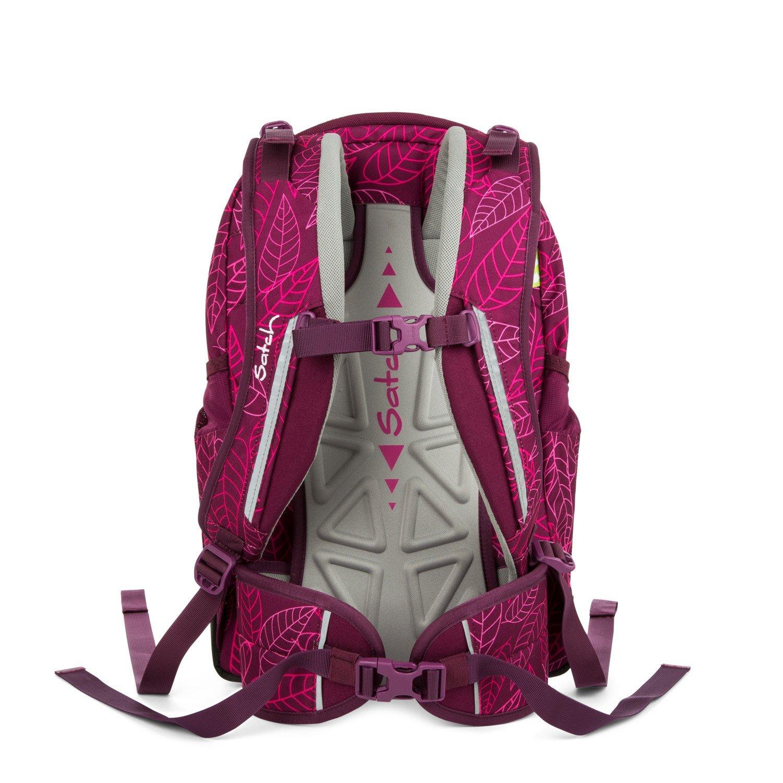 Рюкзак Ergobag Satch Sleek цвет Purple Leaves, - фото 5