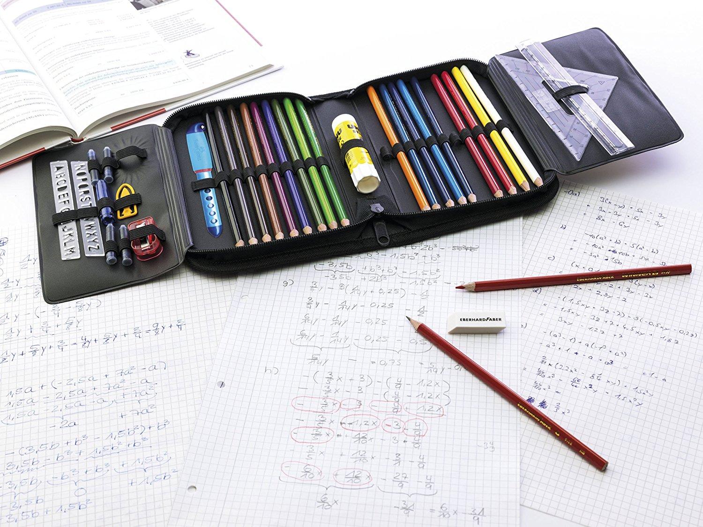 Пенал школьный Комуфляж с наполнением 32 предмета цвет синий, - фото 3