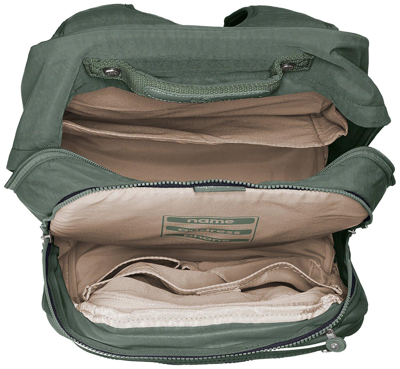 Рюкзак на колесах Kipling CLAS Soobin L оливковый, - фото 3